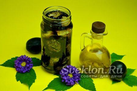 заливаем сливы растительным маслом