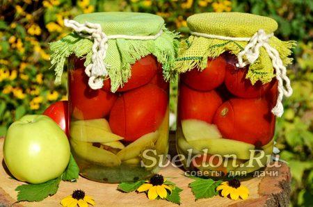 маринованные помидоры с яблоками