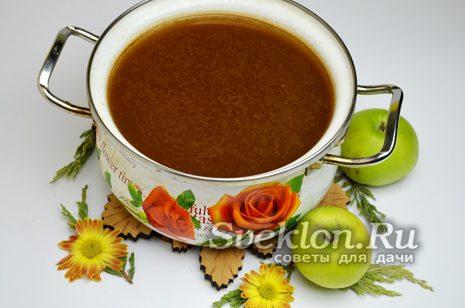 повторно процедить яблочный сок