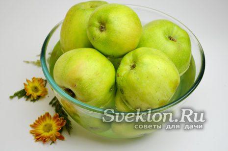 помыть яблоки и осмотреть