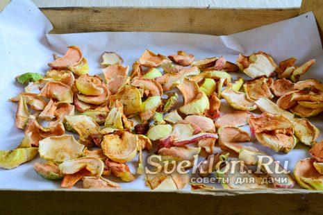 Сушим яблоки на прямых солнечных лучах