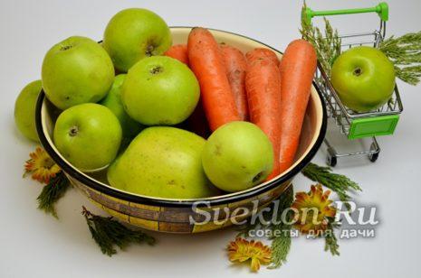яблоки и морковь помыть