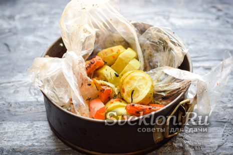 открыть пакет и дать овощам остыть
