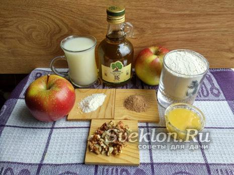 ингредиенты для постной шарлотки
