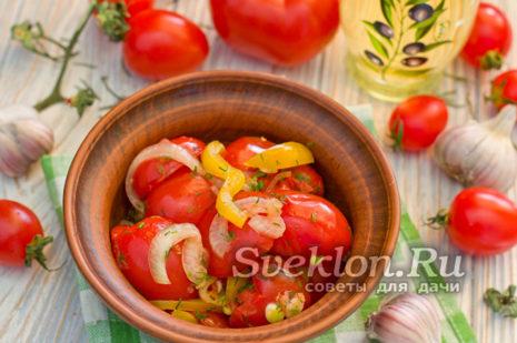 маринованные томаты в пакете