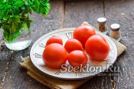 помидоры вымыть хорошо и просушить