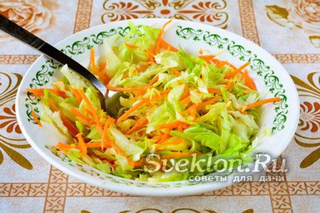 салат хорошо перемешать