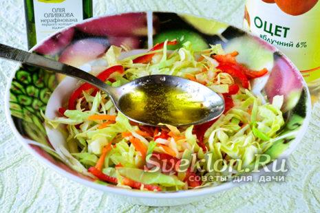 добавить оливковое масло и перемешать