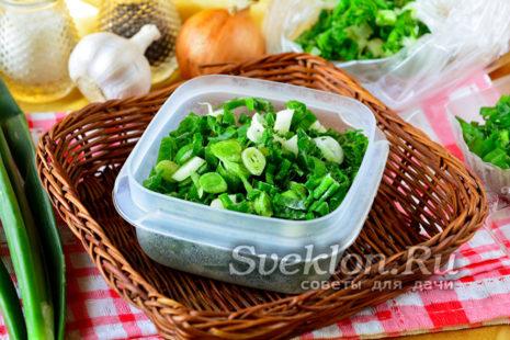 замороженный зеленый лук
