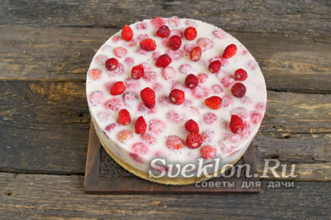 готовый застывший торт