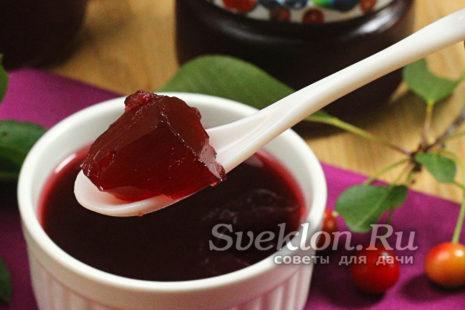 готовое вишневое желе на зиму без желатина