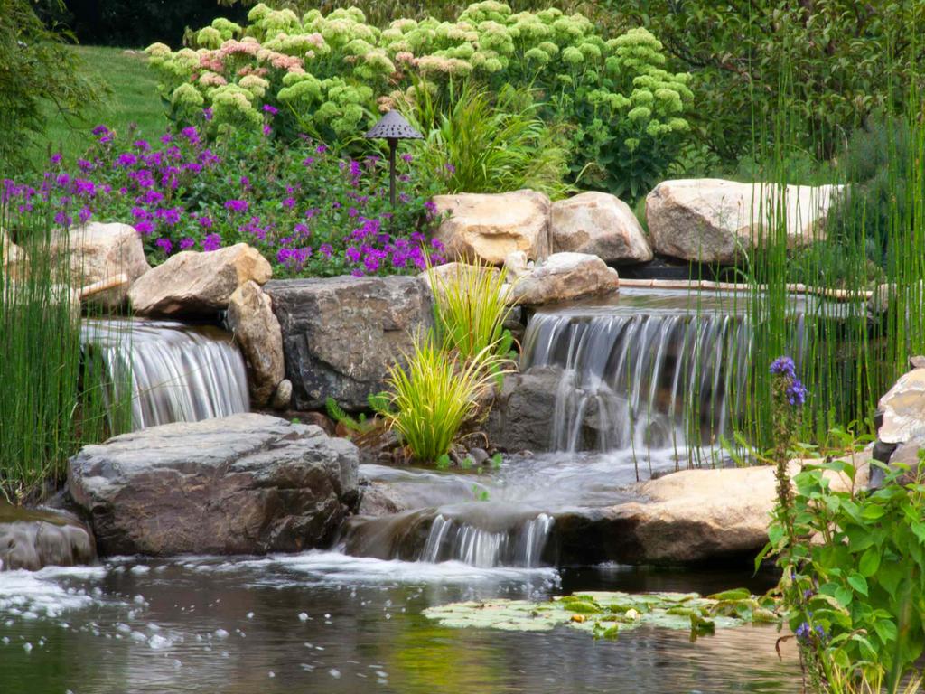 Красивый фонтан