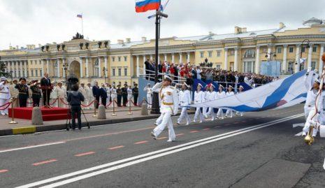 Парад в Санк-Петербурге в честь дня ВМФ