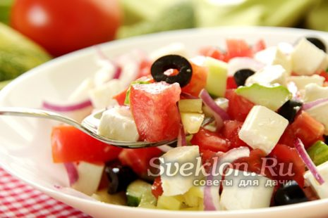 готовый греческий салат