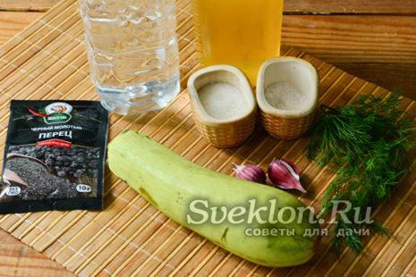 ингредиенты для кабачков