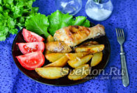 картофель по деревенски с курицей