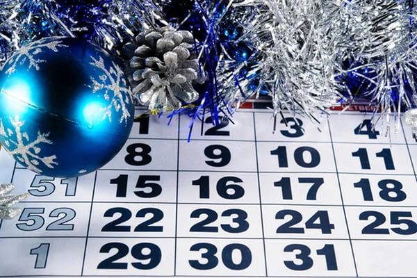 Календарь, елка