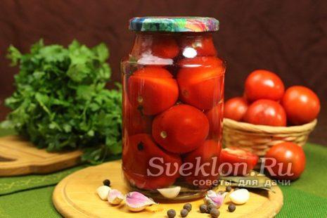 Готовые помидоры в маринаде