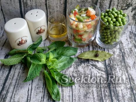 Продукты для супа из горошка