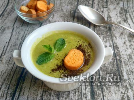 Суп-пюре из горошка