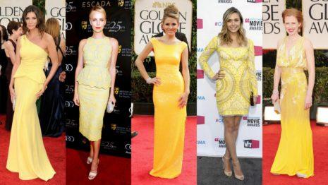 Платья в желтом оттенке