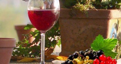 домашнее вино с ягодами