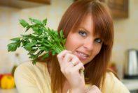 женщина и зелень