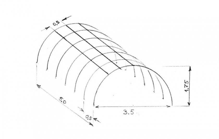 схема дугового парника