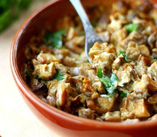 Блюдо с грибами