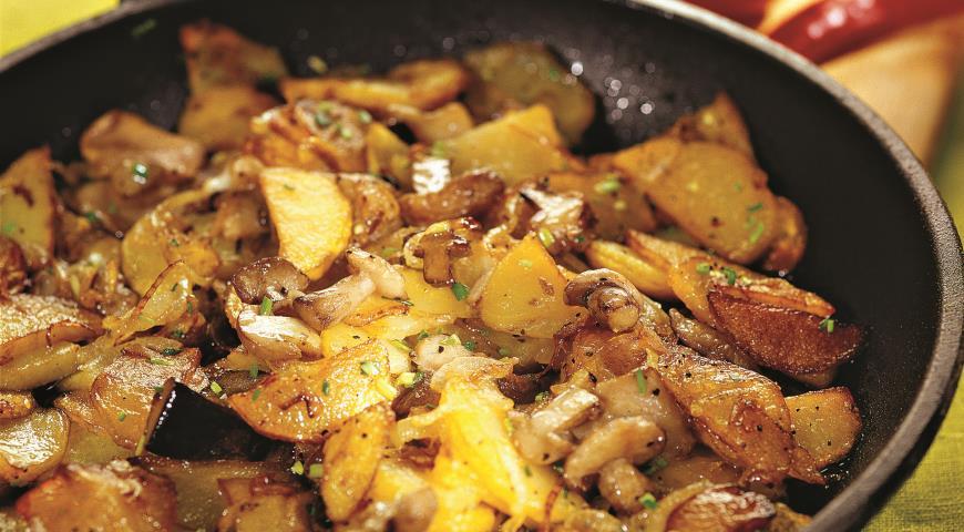 Маслята с картошкой