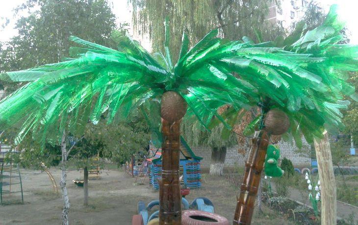 Пальма из пластиковых бутылок своими руками: как сделать, инструкция, пошагово для начинающих