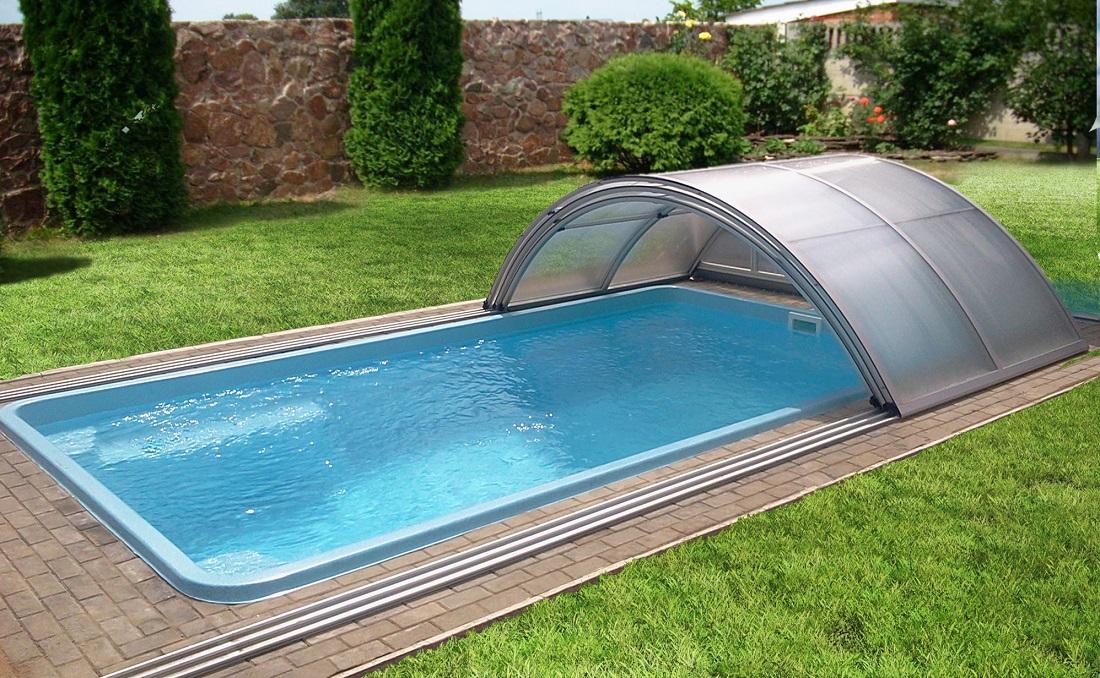прямоугольный бассейн для дачи