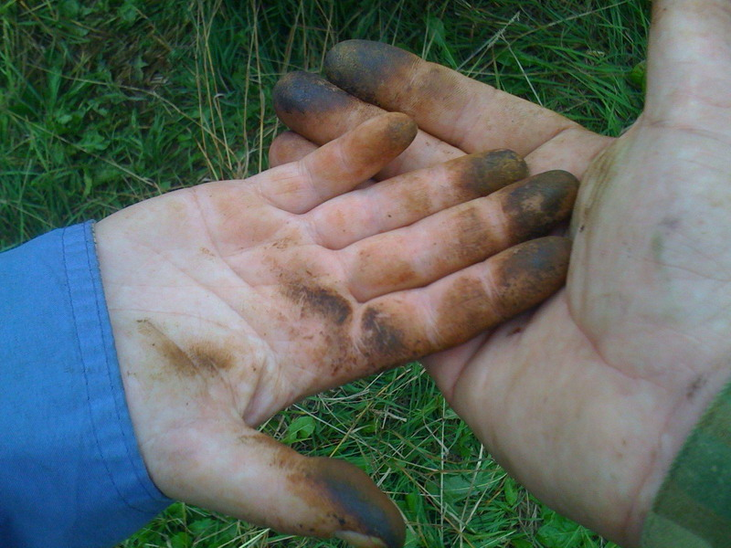 Руки после маслят