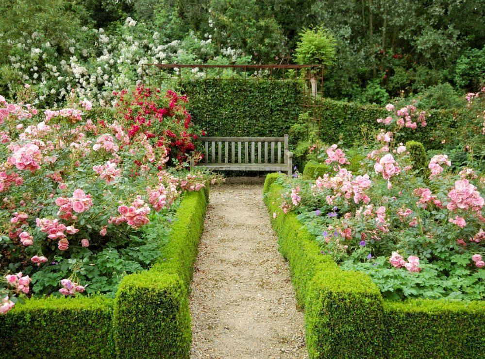 как красиво оформить розарий