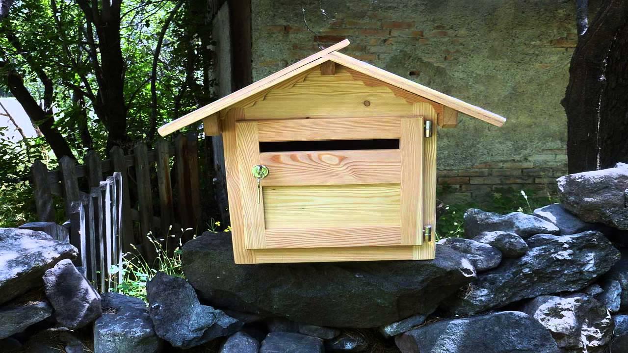 Деревянные почтовый ящик