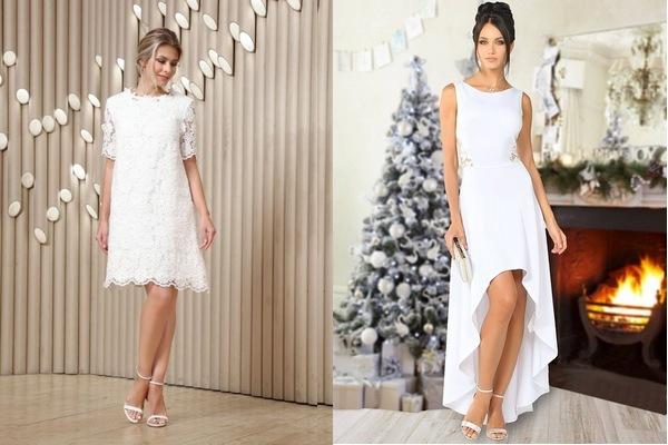 белое новогоднее платье